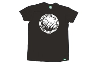 Out Of Bounds Golf Tee - Big Ball Logo - (X-Large Black Mens T Shirt)