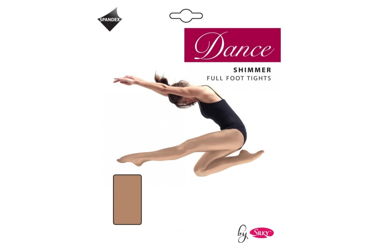 Silky Girls Dance Shimmer Full Foot Tights (1 Pair) (Toast) (3-5 Years)