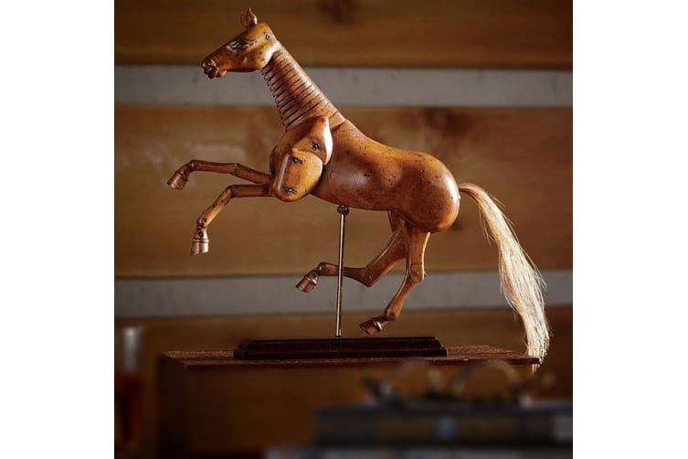 Artist`s Movable Carved Wooden Horse