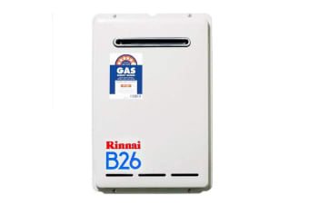 Rinnai Gas Instantaneous Hot Water System 26L Builders Model- Preset to 50 B26N50