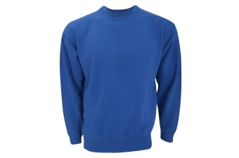 UCC 50/50 Unisex Plain Set-In Sweatshirt Top (Royal) (3XL)