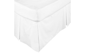 ASSUN Box Pleated Valance White