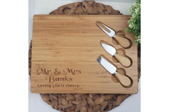 Personalised Wedding Bamboo Cheese Board