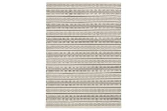 Ester Delicate Lace Woollen Rug Ivory Grey 320x230cm