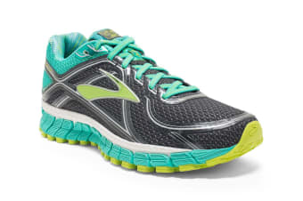 Brooks Women's Adrenaline GTS 16 (Anthracite/Aqua Green/Lime)