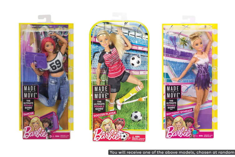 Barbie Made To Move Doll (Assorted)
