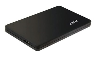 "KIMAX 2.5"" USB 3.0 SATA Screwless  external HDD Enclosure Black"