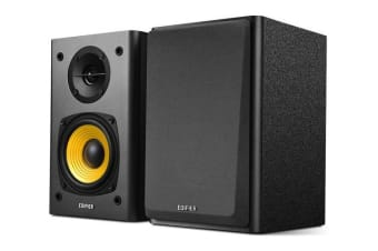 """Edifier R1000T4 Active Bookself 4"""" Bass Driver Speakers BLACK"""
