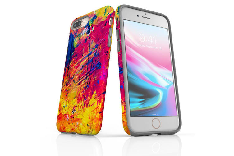 For iPhone 8 Plus Shielding Back Case  Abstract Much?