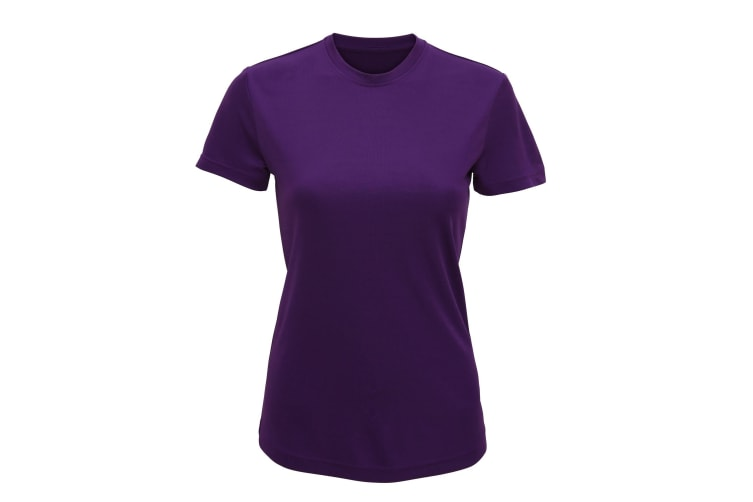Tri Dri Womens/Ladies Performance Short Sleeve T-Shirt (Bright Purple) (XL)
