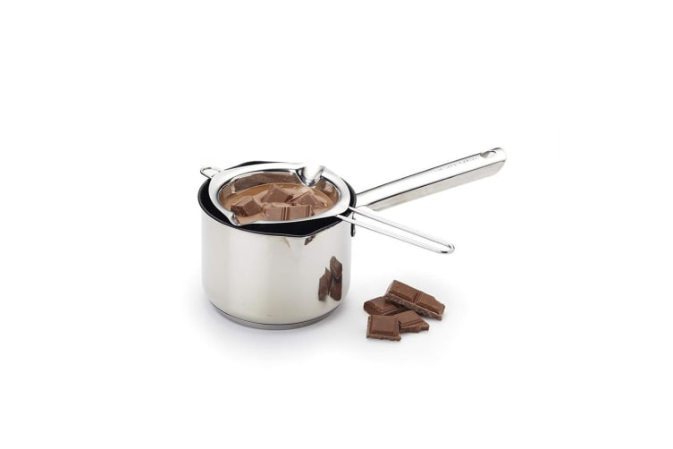 Appetito Stainless Steel Chocolate Melting Butter Pot 12cm dia. Milk Bowl