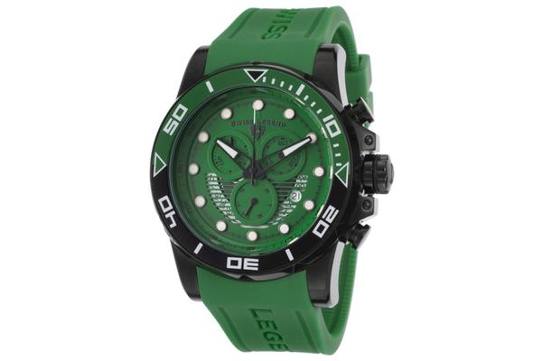 Swiss Legend Men's Avalanche Chronograph Green Dial Green Silicone (SL-21368-BB-08)