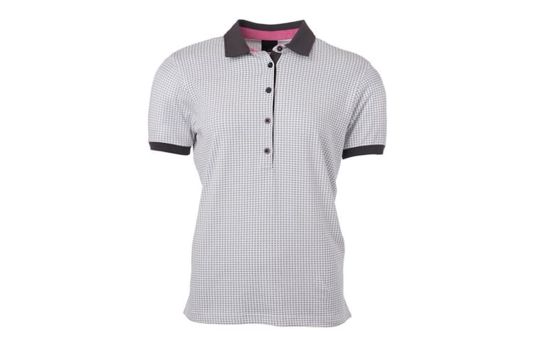 James and Nicholson Womens/Ladies Printed Polo (White/Titanium Grey) (S)