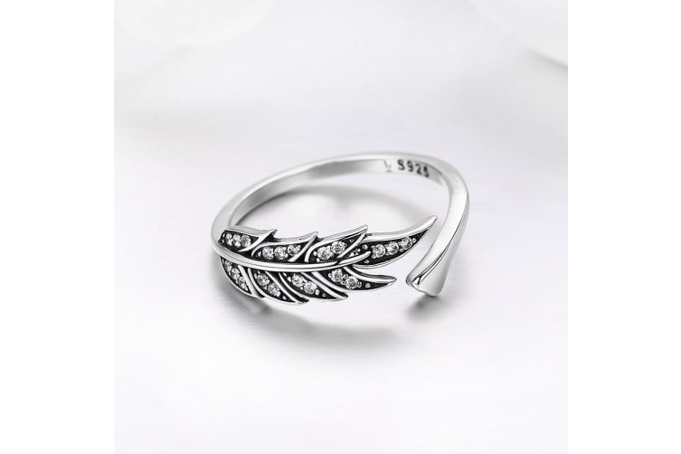 .925 Antiqued Angel Feather Ring