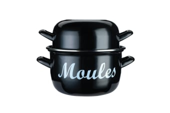 Kitchencraft Black Enamelled Mussel Pot - Small