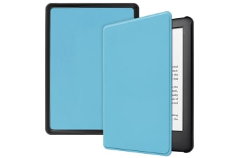 Smart Stand Case For Amazon All New Kindle 2019 10th Gen PU Leather Folio Cover-Skyblue