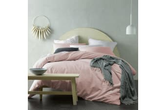 Crinkle 100% Cotton Quilt Cover Set Blush by Accessorize