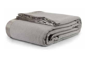Jason Australian Wool Blanket (Silver/Grey)
