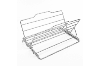 D.line Adjustable Roasting BBQ Rack 25 x 19cm Grill Roaster Rack Cake Cooler