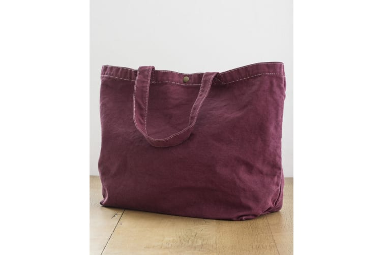 Bags By Jassz Large Canvas Shopper (Wine) (One Size)