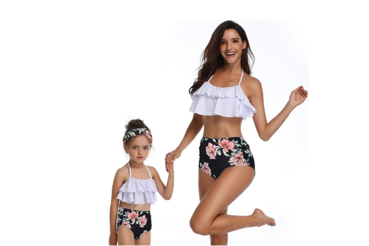 High Waisted Bathing Suit Mommy And Daughter Swimwear Bikini Sets - 2 140