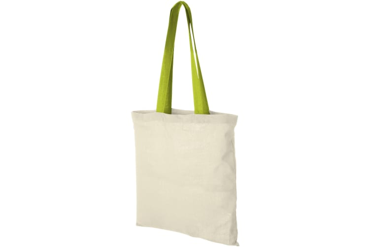 Bullet Nevada Cotton Tote (Natural/Apple Green) (One Size)