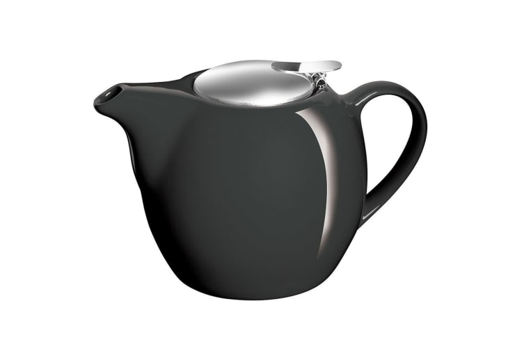 Avanti Camelia Black Ceramic Teapot Stainless Steel Infuser Dishwasher 750ml