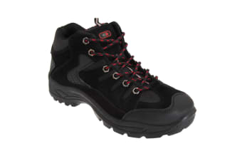 Dek Mens Ontario Lace-Up Hiking Trail Boots (Black)