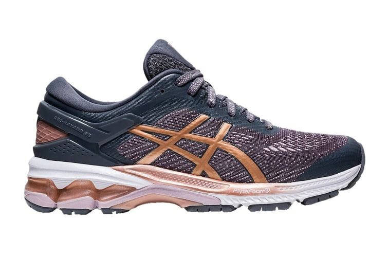ASICS Women's Gel-Kayano 26 Running Shoe (Metropolis/Rose Gold, Size 6 US)