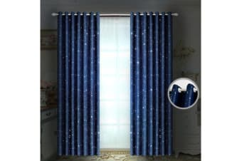 Deluxe Blockout Curtain 3 Layers Eyelet Single Pannel 140x160cm