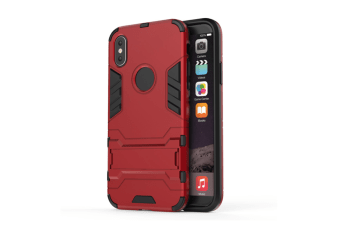Full-Armoured Protective Case Of Steelman Stealth Bracket Phone Case For Iphone Red Iphone 8Plus