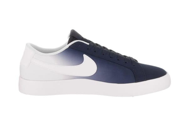 Nike Men's SB Blazer Vapor Canvas Shoe (Obsidian/White/Blue, Size 10.5)