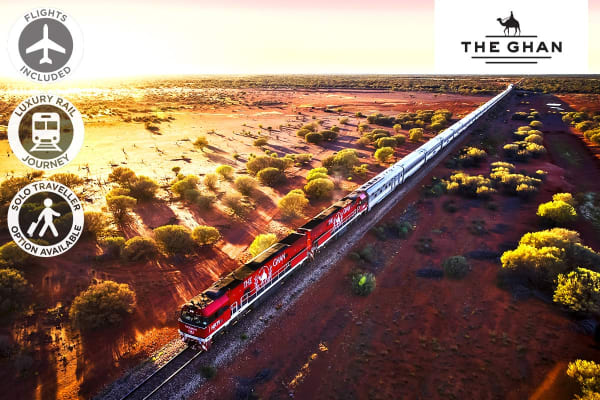 The Ghan – 6 Day Luxury Rail Package from Adelaide to Darwin Including Flights For One (Departing BNE)