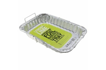 6x Large Foil Container Tray Handles Roasting BBQ Dish Takeaway Oven