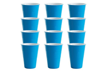12x Avanti Miami Melamine Cup Blue 400ml Coffee Tea Drink Tumbler Kids BBQ Tone