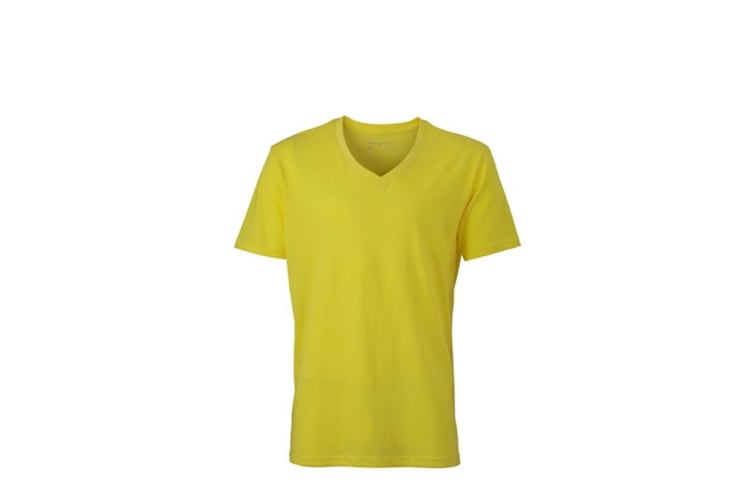James and Nicholson Mens Heather T-Shirt (Yellow Melange) (3XL)