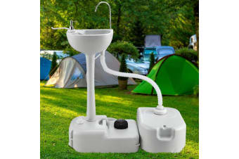 Weisshorn Camping Portable Sink Wash Basin Water Stand Food Event 43L Capacity
