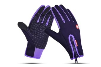 Outdoor Sport Gloves For Men And Women Skiing With Cold-Proof Touch Screen - 6 Purple S