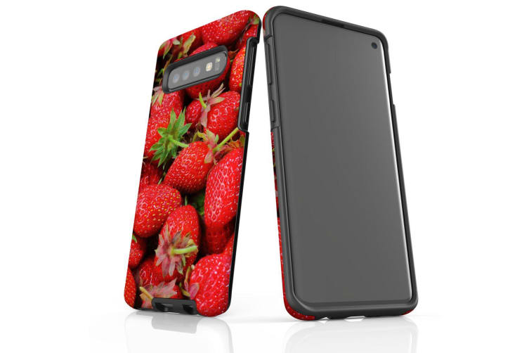 For Samsung Galaxy S10 Case  Armour Tough Cover  Strawberries