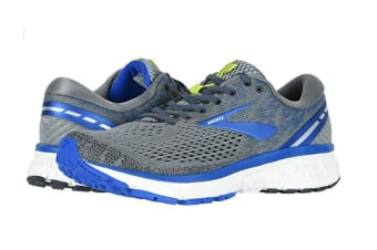 Brooks Men's Ghost 11 (Grey/Blue/Silver, Size 10.5)