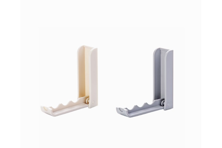 2Pcs Foldable And Perforation-Free Wall Hanging Clothes Hook And Sundries Sticking Hook Grey 2Pcs