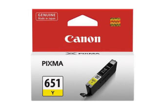 CANON CLI651XL INK CARTRIDGE HIGH YIELD YELLOW