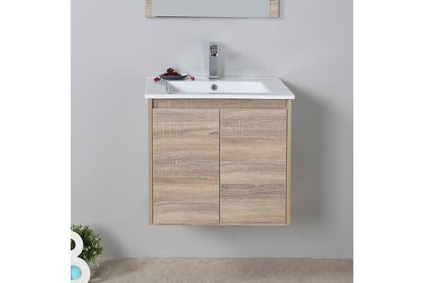 Aulic Wall Hung Bathroom Vanity Storage Cabinet 600mm
