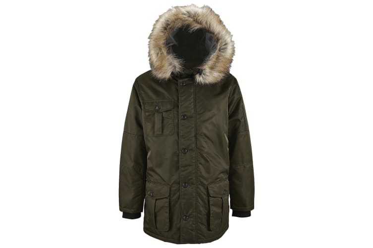 SOLS Mens Ryan Parka Jacket (Umber) (2XL)