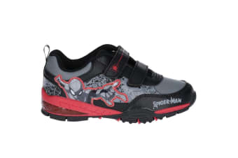 Spiderman Childrens/Kids Web Touch Fastening Trainers (Black/Red/Grey) (1 UK)