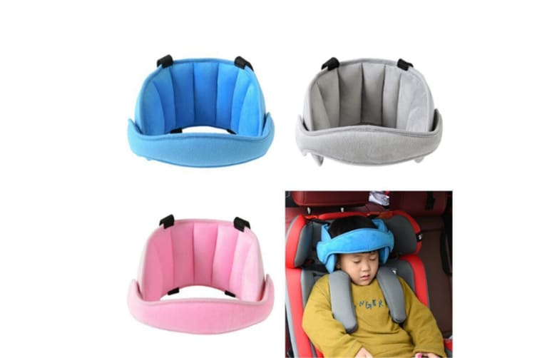 Comfortable Safe Neck Relief Head Protector Belt Baby Sleep Aid Strap - Blue Blue
