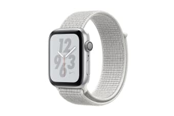 Apple Watch Nike+ Series 4 (Silver, 40mm, Summit White Nike Sport Loop, GPS Only)