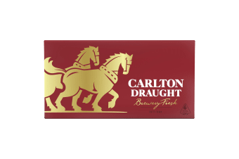 Carlton Draught Beer 24 x 375mL Bottles