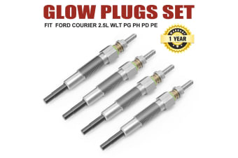 ATEM POWER 4 X Glow Plugs FIT FORD COURIER PG PH PD PE 2.5L MAZDA WL WLT Turbo Diesel 96-06