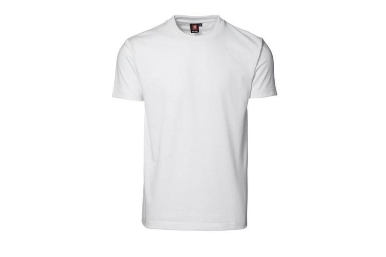 ID Mens Pro Wear Regular Fitting Short Sleeve T-Shirt (White) (XS)